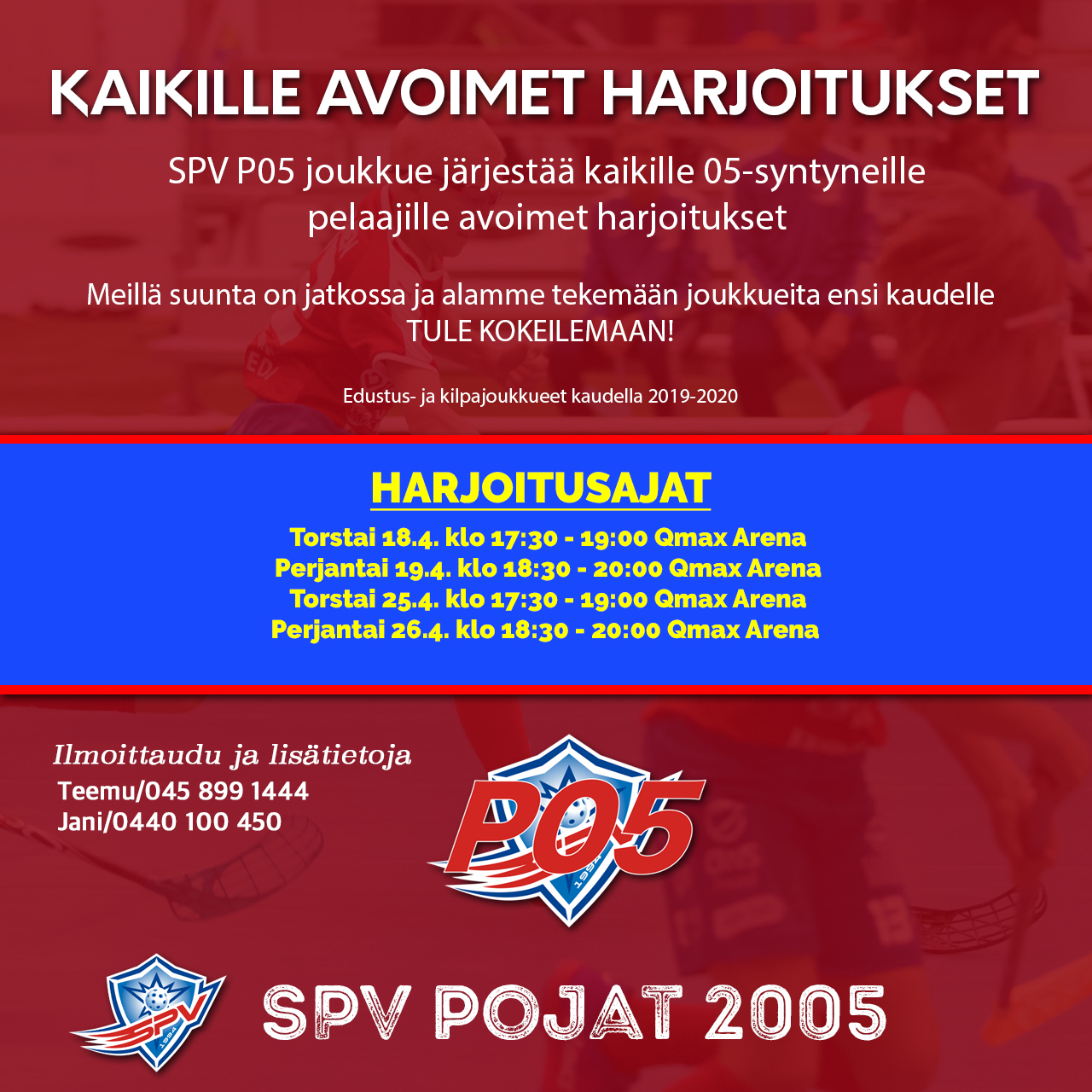 SPV P05 avoimet harjoitukset 2019